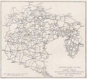 D6958 Italy North - Streets - Map Period - 1928 Vintage Map