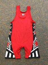 Matman Wrestling Singlet Red Black Size L 150-180lbs #921