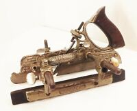 Vtg antique Stanley no.45 combination plow rabbet woodworking plane tool