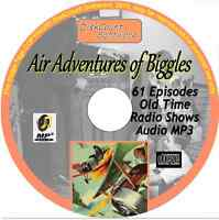 Air Adventures of Biggles - 61 Old Time Radio Shows - Audio MP3 CD