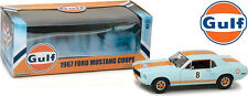 "1967 FORD MUSTANG COUPE ""GULF"" OIL #8 1/18 DIECAST MODEL CAR BY GREENLIGHT 12989"