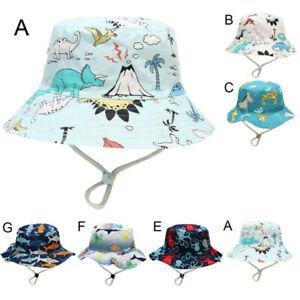 Kinder Jungen Mädchen Hut Cartoon Sommerhut UV Schutz Sonnenmütze für 1-8 Jahre