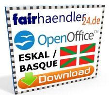 Descarga Open Office New Eskal Basque suite writer Calc Impress draw base Math