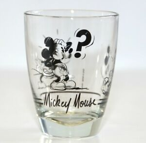 Disneyland Paris Mickey Mouse Sketch Comic Strip Glass   N:3185