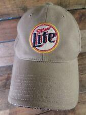 3ba8737da6d MILLER LITE Beer Khaki Adjustable Hat Adult Cap American Needle