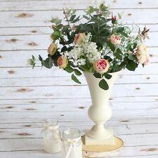 Splendido ferro Crema Lusso VASO Urna Wedding tavolo punto focale 31cm EF