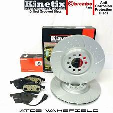 For Audi TT 1.8 Turbo 225 Front Dimpled Grooved Brake Discs Brembo Pads 312mm