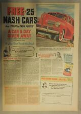 Nash Car Ad: Free - 25 Nash Cars 1941 Nash Ambassador 600
