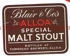 Scotland Blair & Co Special Malt Stout Label Tavern Trove