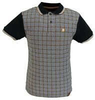 Trojan Records Black Retro Dogtooth Polo Shirts