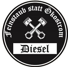 Feinstaub statt Ökostrom Aufkleber schwarze Diesel Umwelt-Plakette JDM 2 Stück