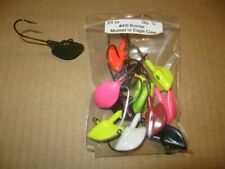 12 Lead Head Stand-Up Fishing Jigs 3/4 Oz. Stand