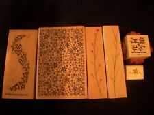 Lot of Hero Arts Inkadinkado Rubber Wood Stamps ~ Crafts, Stamping, Scrapbooking