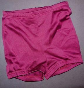 NWOT Booty Shorts Highwaist Dance Shorts elastic waist & leg Wine Burgundy ch/ad