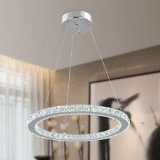 D30cm Ring Crystal LED Light Ceiling Pendant Lamp Fixture Chandelier Cool White