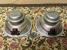 """2 AlNiCo 4"""" = 10 cm ISOPHON tweeter driver speaker vintage 1950ies"""