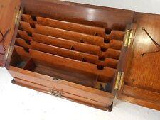 Antique Desktop Oak Stationery Box   , ref 2925
