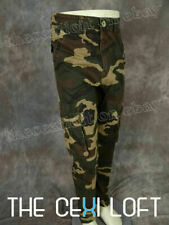 Mens PREMIUM RENEGADE Olive Twill CARGO PANTS in WOOD CAMO