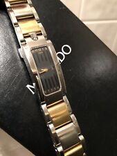 Movado Elliptica Women's Watch 18K Yellow Gold Stainless Steel Bracelet 0604708