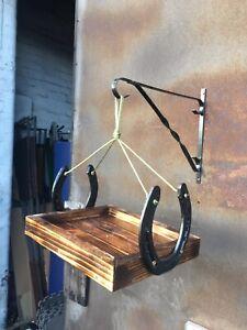 Handmade Horseshoe Bird Feeding Hanging Table