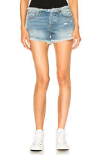 NSF NWT $215 Drai Frayed Indigo Cut Off Denim Shorts Sz 25
