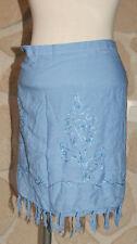 Jupe paréo bleue neuve taille unique marque Karanis (b)
