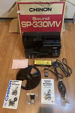 Chinon Sound # Sp-330Mv Magnetic Sound Movie Projector Recorder w/ Accessories