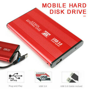 External Hard Drive Disk USB 3.0 2TB HDD 2.5'' For PC Laptop Windows Portable