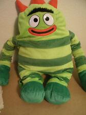 Yo Gabba Gabba Brobee Plush Backpack 19'' Kids Childs Green Barely Used EUC