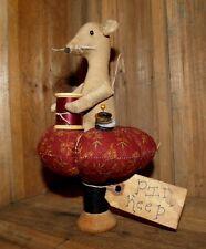 PATTERN ON CD~sewing/pinkeep/mouse/vintage wood spool /MY PRIMITIVE SALTBOX/PT87