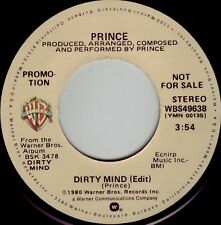 PRINCE Dirty Mind (edit) ((**NEW-UNPLAYED 45 DJ**)) from 1980