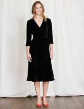 BODEN  Damen  Samt Kleid -Velvet  Wrap Dress-m.Seide  GR.UK.8L 34 36  NEU