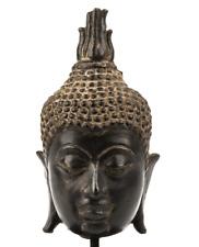 A Bronze Head Of Buddha Sukhobaya Style 13th Century Thailand