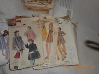 Lot of 19 Vintage Sewing patterns for women.  Simplicity, mccalls, misc