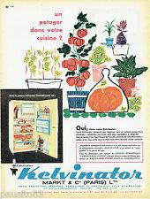 PUBLICITE ADVERTISING 125  1960  KELVINATOR réfrigérateur Chambellan
