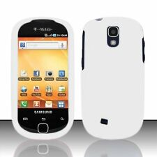 Hard Rubberized Case for Samsung Gravity Smart T589 - White