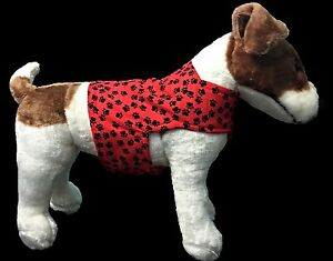 Red and Black fleece lined Dog Vest with bow tie.