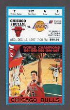 1997-98 Chicago Bulls LA Lakers 12/17/97 Michael Jordan Kobe Bryant Ticket Stub