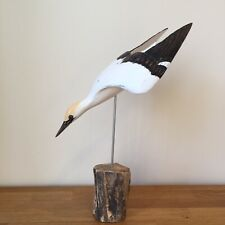 Archipelago Wood Carving Gannet Diving Small D396 Bird Watching Country Gift