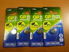 6x GP SR54 1.55V 389 90 SR1130S Watch Silver Oxide Button Cell Battery Batteries