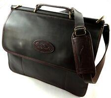 BOB TIMBERLAKE Vintage Aktenkoffer Umhänge Messenger Tasche Dunkelbraun Leder