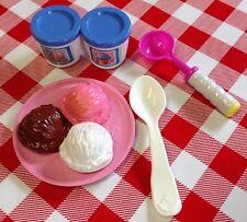 VTG Fisher Price MATTEL Pretend Play Food Kitchen Groceries Ice Cream Dishes