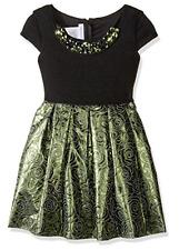 New Bonnie Jean Girls' Waisltine Jacquard Dress - Size: 12 (Girls)