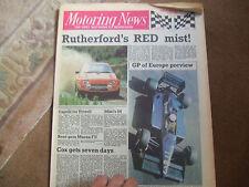 Motoring News 2 October 1985 Ken Tyrrell Martin Brundle Christian Danner GP