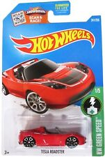 Hot Wheels 2016 H.W. Green Speed Tesla Roadster Red 241/250 New