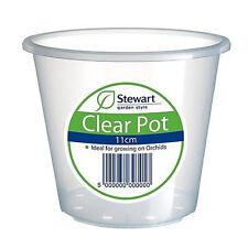Maceta Contenedor Stewart Transparente para Orquídeas Clear Pot 11cm (2646008)