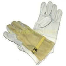 Us Military Cattle Hide Leather Heavy Duty Work Gloves Size 4 Large Ln