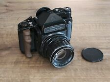 Pentax 67 6x7 MLU with SMC 105 f2.4 lens and TTL Prism