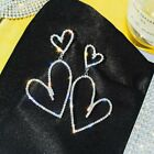 Women Zircon Tassel Crystal Flower Heart Earrings Stud Drop Dangle Jewelry Gifts