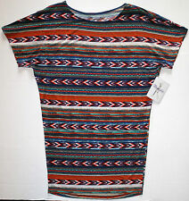 NWT Wrangler Ladies Aztec Dolman Wedge Knit Above Knee Multi Color Dress Large
